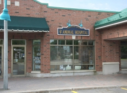 Front of Clinic -Our large front sign makes us easy to find from Village Green.